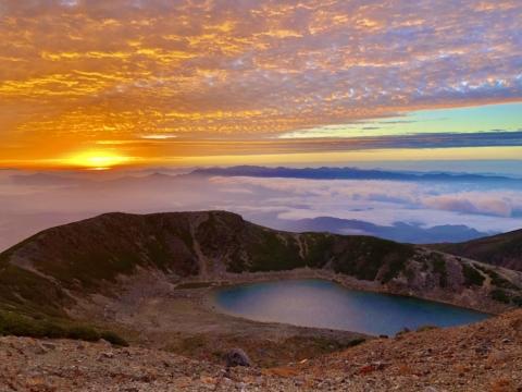 御嶽山でドローン撮影