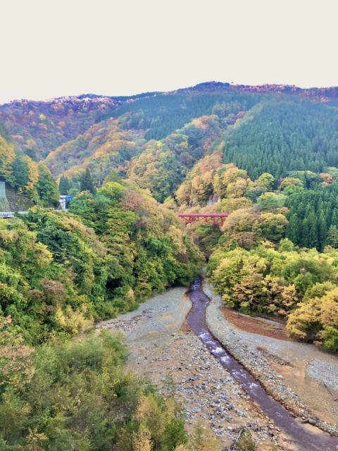 長野県高山村「松川渓谷」をドローン撮影しました